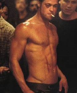 Brad Pitt body Fight Club