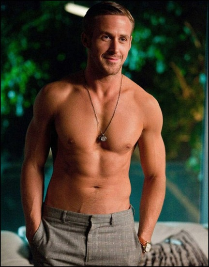 ryan gosling showing his lean body