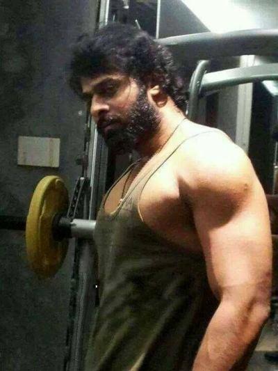 Prabhas at gym