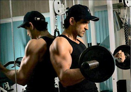 Hrithik Roshan in Gym