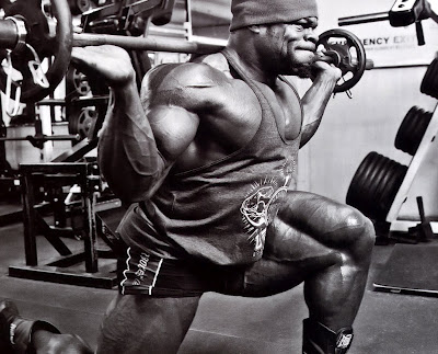 Kai Greene doing exercise