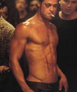Brad Pitt body Fight Club