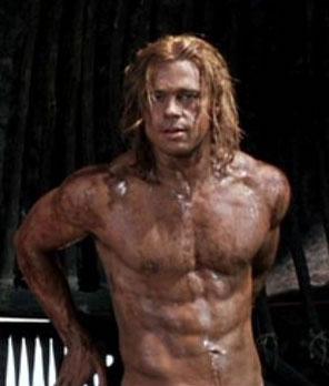 Brad Pitt muscles troy