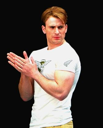 chris evans showing body