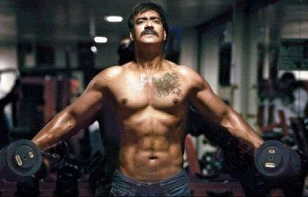 Ajay Devgan's masculine body