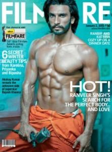 Ranveer Singh on cover of Filmfare Jan 2013