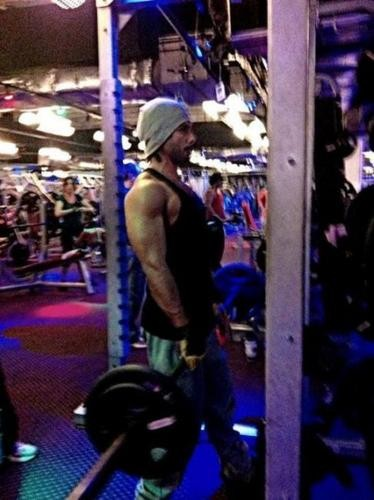 Shahid Kapoor Workout Photo