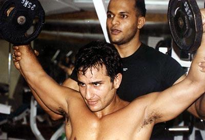 Saif Ali Khan Workout at gym