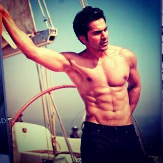 Varun Dhawan's six pack abs