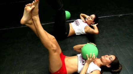 Bella Twins Bare Feet Workout